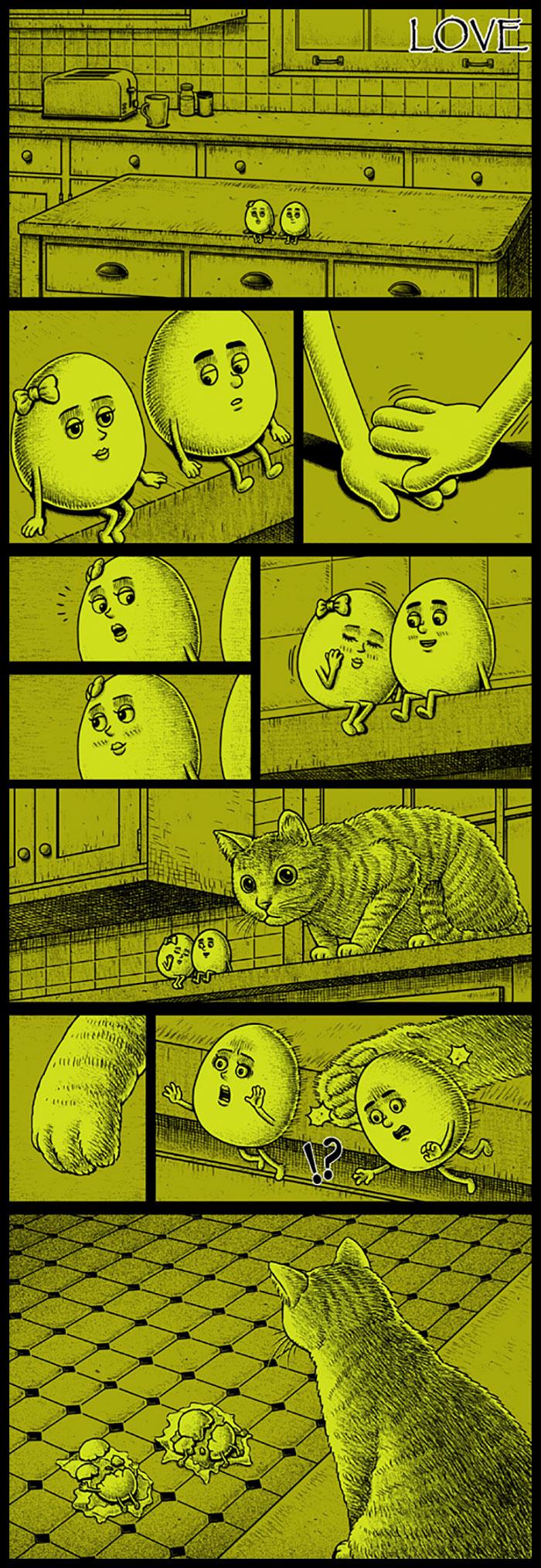 Фото №6 - 30 комиксов с отборным черным юмором от Бена Чена