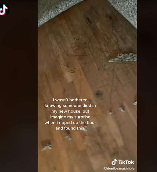 девушка подняла ковер в новой квартире и то, что под ним заставило ее сбежать