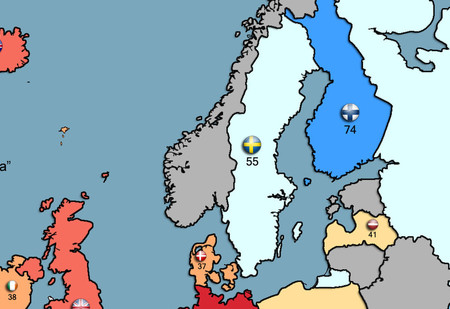 Карта: Какой процент жителей европейских стран готов сражаться за родину