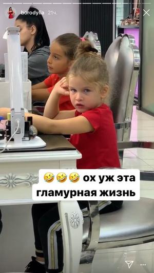 Фото №3 - Ксения Бородина приучает дочерей к гламурной жизни