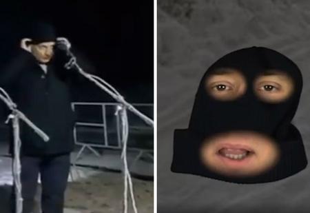 Пародия на мэра, выбросившего шапку на телемосте с Путиным, набирает популярность в Интернете (видео)
