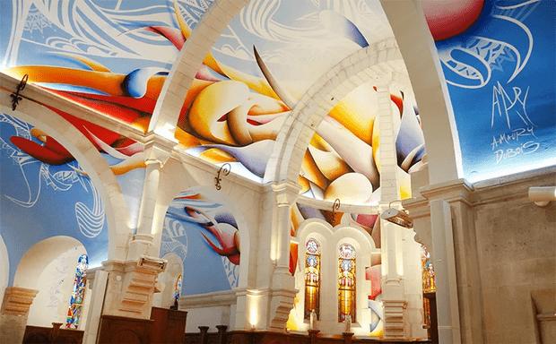 Фото №4 - Красочные граффити в церкви Святой Магдалины