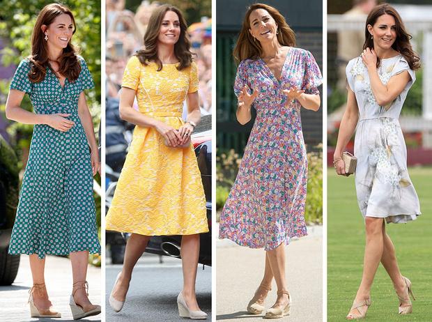 Фото №1 - Цветы, горошек и шифон: где искать летние платья, как у герцогини Кейт