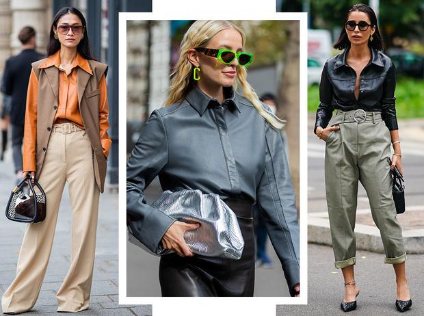 Фото №1 - Как носить кожаные рубашки: стильные идеи на каждый день