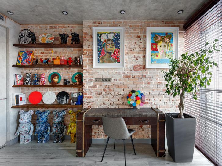 Фото №1 - Яркий лофт для коллекционеров искусства в Москве