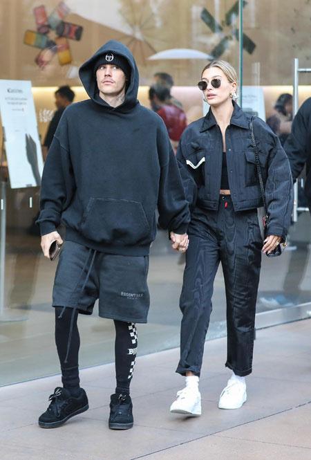 Хейли и Джастин Бибер в Лос-Анджелесе