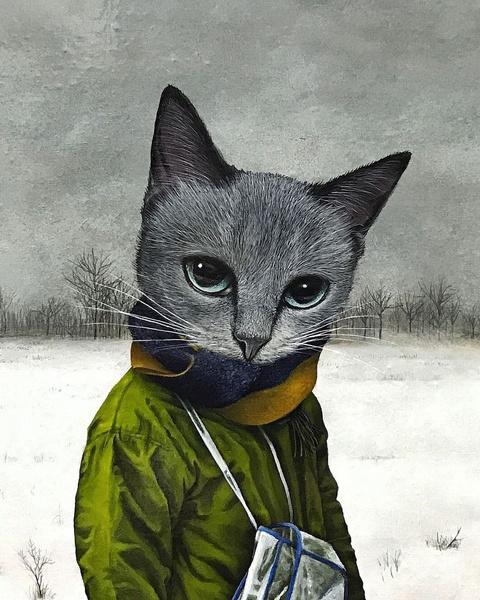 Фото №8 - Инстаграм дня: Японский художник, который рисует котиков
