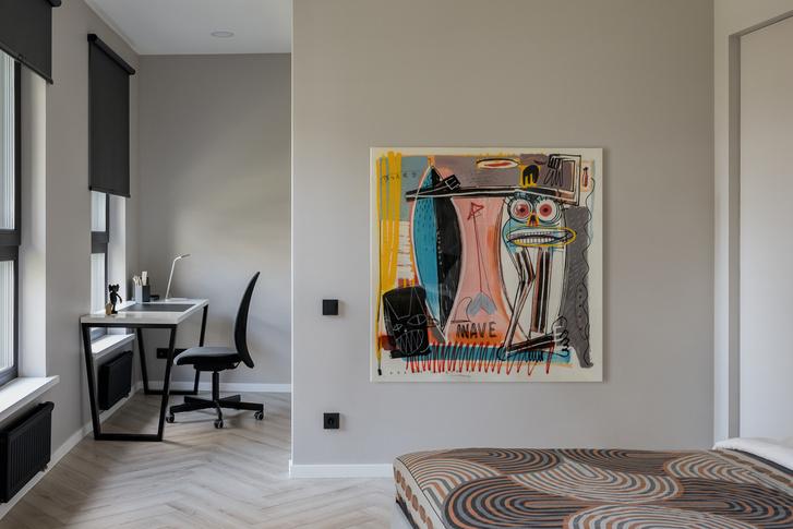 Фото №14 - Минималистская квартира в доме с радиусной планировкой