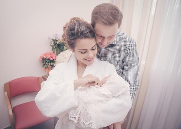 Галина Ржаксенская с дочерью и мужем