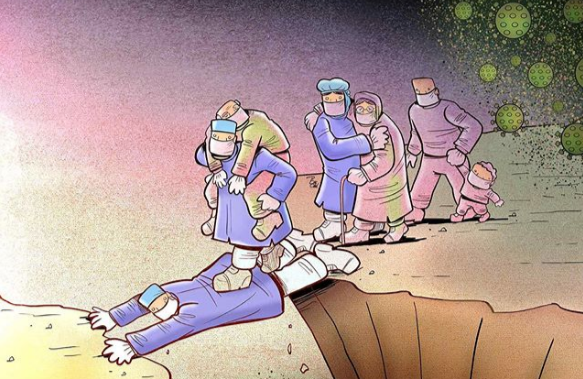 Фото №1 - 16 карикатур про коронавирус от иранского художника