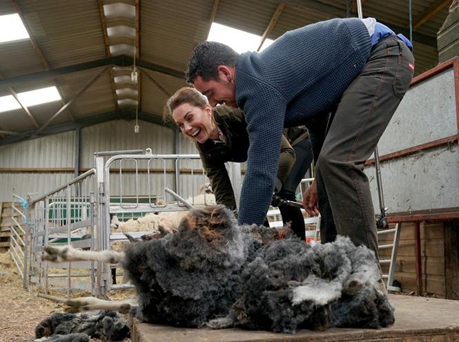 Фото №5 - Герцогиня Кейт освоила новые фермерские навыки