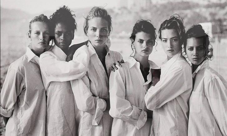 Фото №1 - История одной фотографии: Питер Линдберг, девушки в мужских рубашках