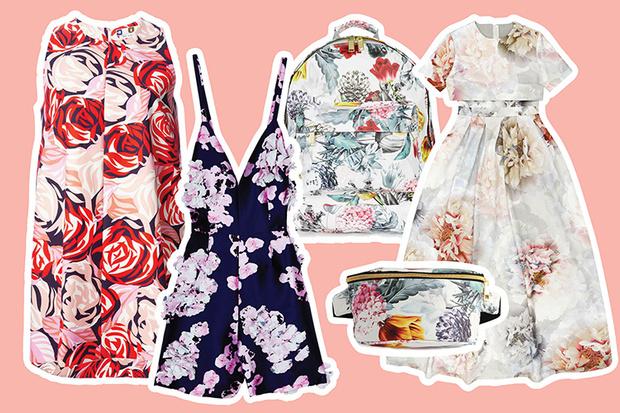 вещи с цветочным принтом лето 2015