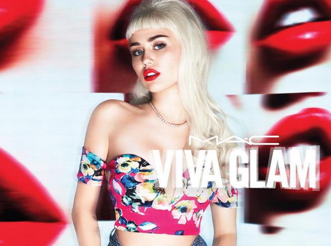 Фото №1 - Майли Сайрус снялась для MAC Viva Glam