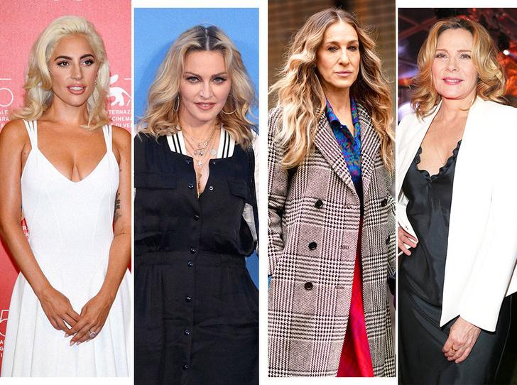Леди Гага и Мадонна; Сара Джессика Паркер и Ким Кэтролл
