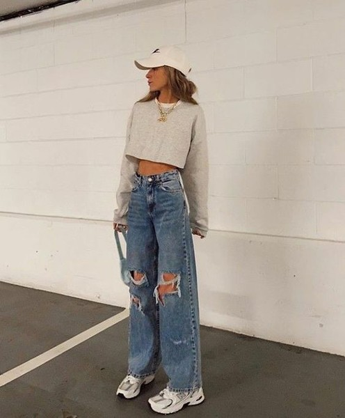 Фото №4 - С чем носить широкие джинсы: 7 стильных образов