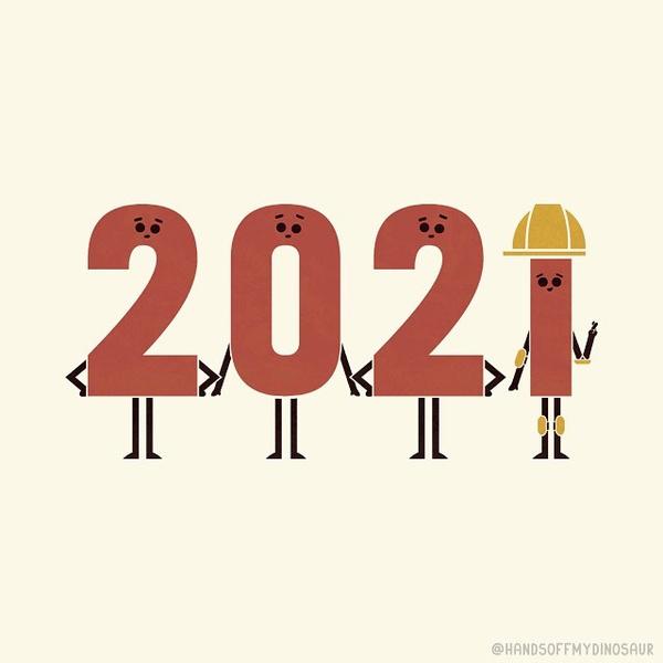Фото №8 - Покруче мемов: арты Инста-художников к Новому году 2021