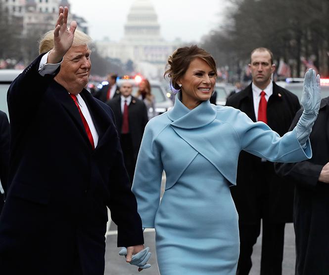 Фото №7 - Рождение fashion-звезды: Мелания Трамп на инаугурации