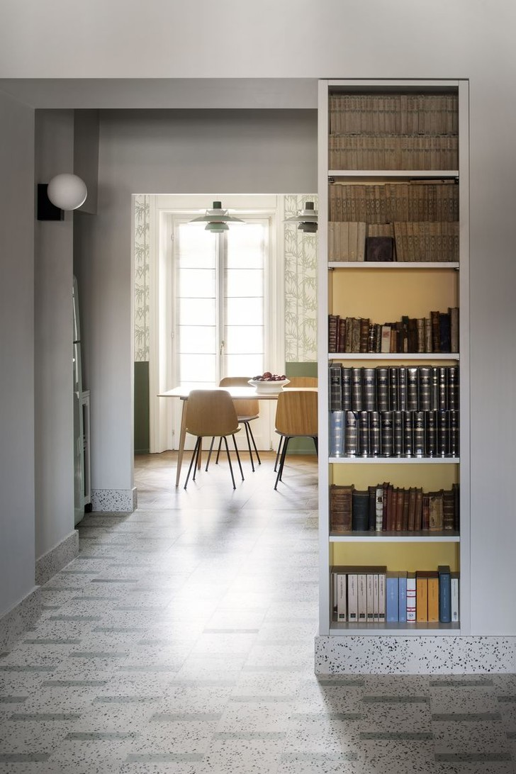 Фото №4 - Квартира с домашней библиотекой в Милане
