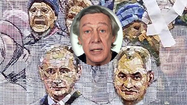 Фото №1 - «Храм вам»: Михаил Ефремов исполняет свежие стихи про мозаику с Путиным и Шойгу