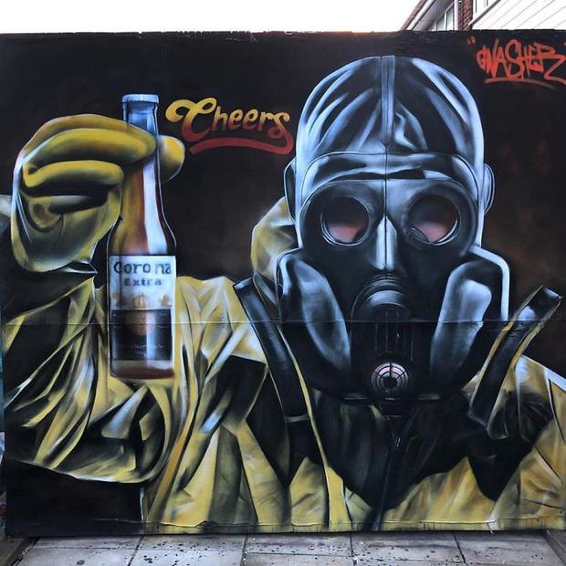 Фото №16 - 20 граффити со всего мира, навеянные коронавирусом