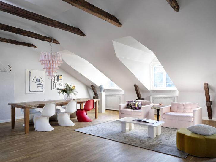 Фото №1 - Квартира в мансарде 140 м² в Стокгольме