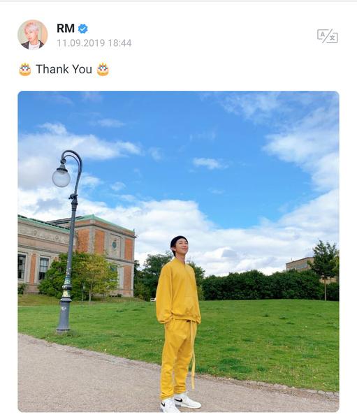 Фото №1 - RM написал трогательное письмо для ARMY