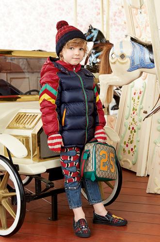 Фото №35 - Золотая карусель: лукбук осенне-зимней детской коллекции Gucci 2016/17