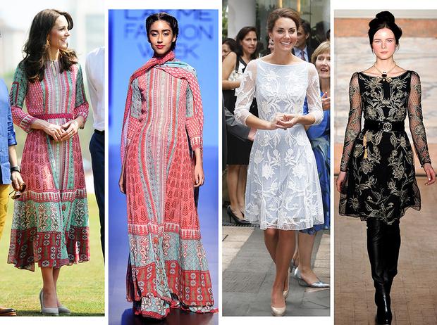 Фото №1 - Было/стало: как дизайнеры перешивают свои наряды ради Кейт Миддлтон