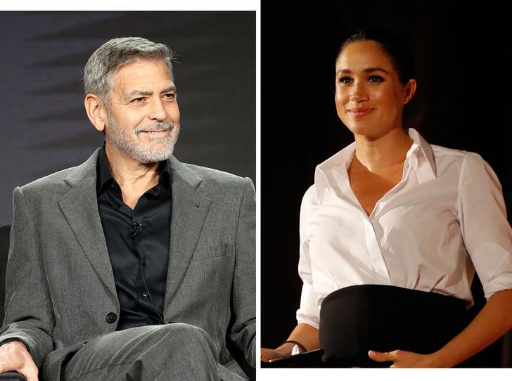 Фото №1 - «Ее преследуют, как Диану»: Джордж Клуни – о герцогине Меган