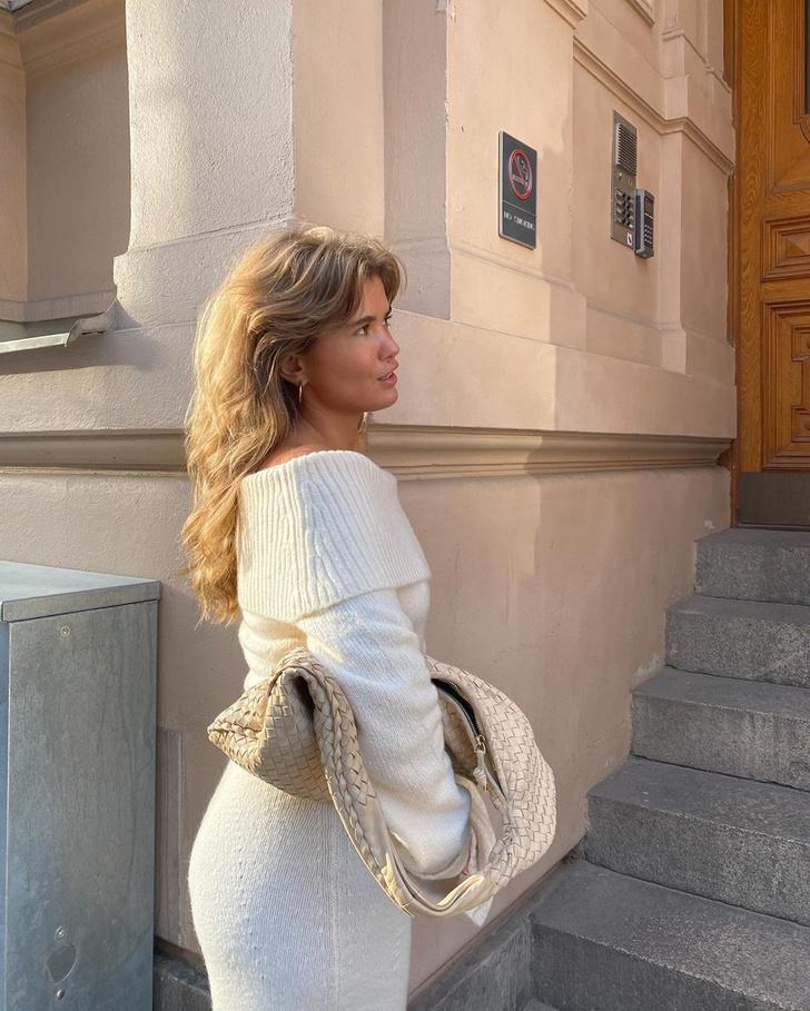 Фото №2 - С чем носить трикотажное платье, пока на улице тепло: показывает Матильда Джерф