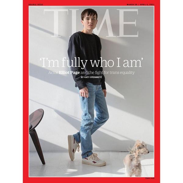 Фото №1 - Эллиот Пейдж— первый трансгендерный мужчина, появившийся на обложке TIME