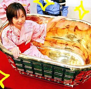 Фото №1 - В Японии украли золотую ванну