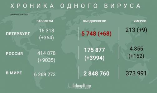 Фото №1 - Число заразившихся коронавирусом петербуржцев превысило 16 тысяч