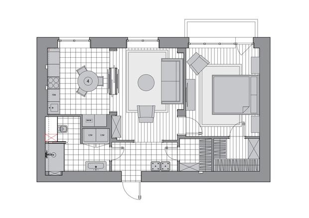 Фото №12 - Светлая квартира 58 м² с винтажной мебелью в Москве