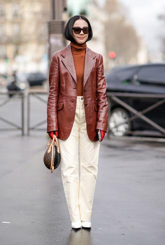 Фото №2 - Как носить кожаный жакет из 90-х: лучшие сочетания сезона