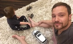 Алексей Чадов посадил трехлетнего сына за руль