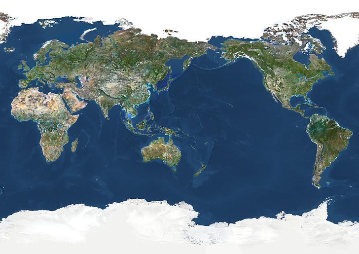 Фото №1 - Карта: насколько велик Тихий океан на самом деле