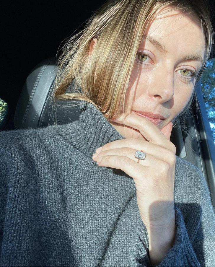 Фото №1 - Мария Шарапова впервые показала обручальное кольцо с огромным бриллиантом