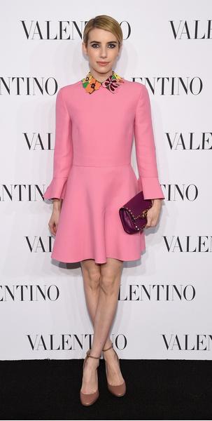 Эмма Робертс на шоу Valentino Sala Blanca 2014