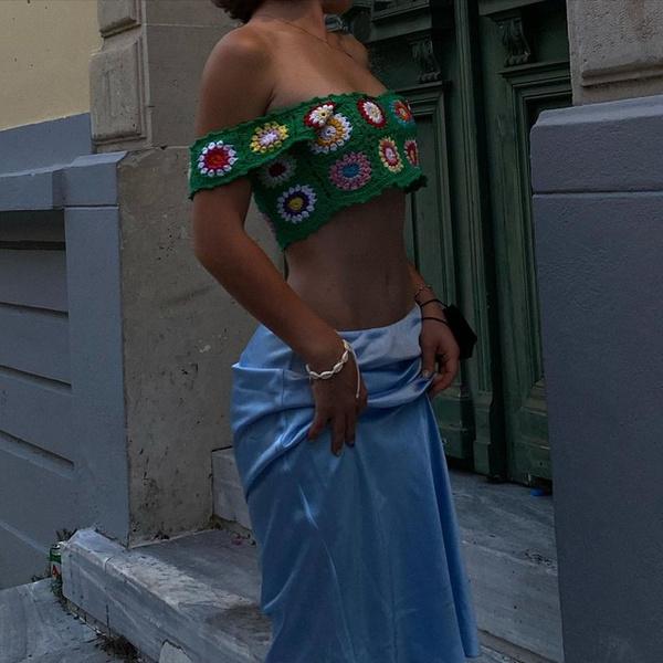 Фото №1 - Где купить стильную атласную юбку как у Марьяны Ро