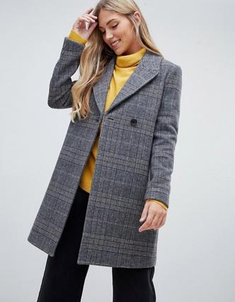 Купить рубашку, пальто, пиджак, юбку в клетку, недорого