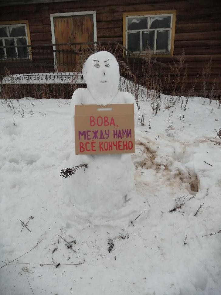 Фото №3 - В Архангельской области полиция разогнала несанкционированный митинг снеговиков (много фото)
