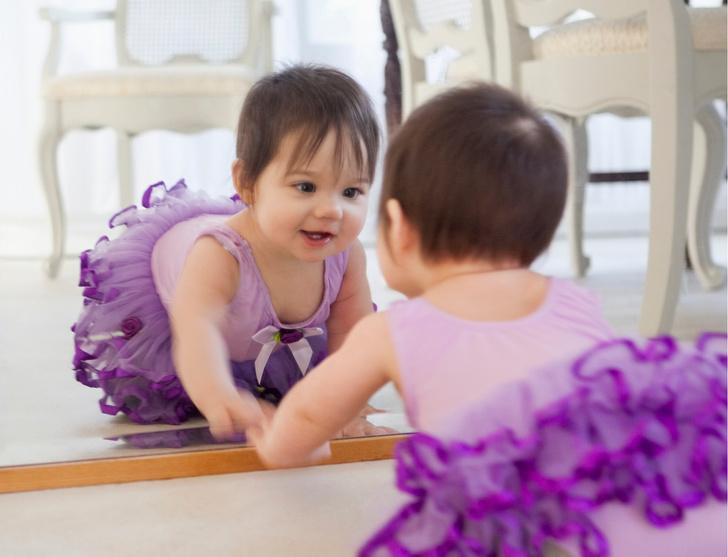 Фото №1 - С какого возраста малышу можно показывать зеркало