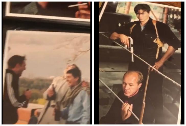 Фото №1 - Фотографии со съемок «Бригады» из личного архива показал и прокомментировал Безруков (видео)