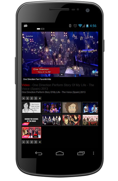 One Direction Fan FavoriteVids приложение