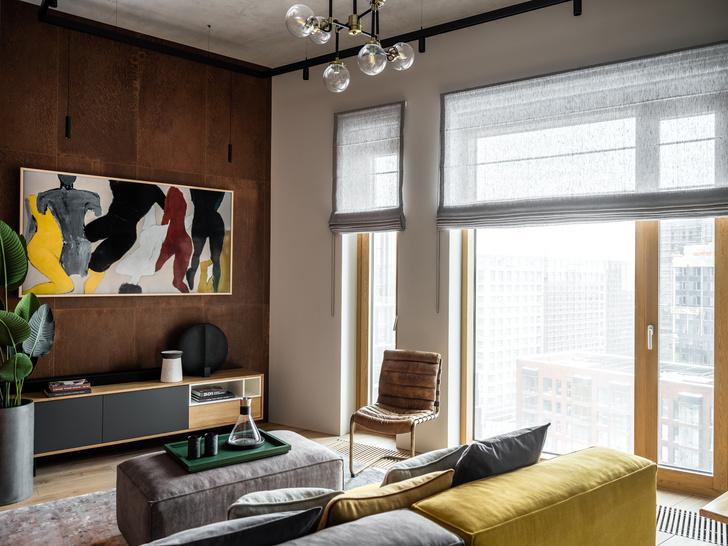Фото №1 - Московская квартира с панорамными окнами и антресолью