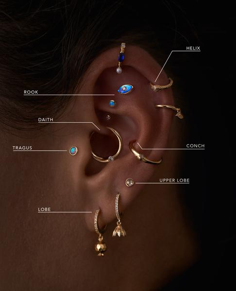Фото №1 - 3 самых популярных точки для пирсинга ушей