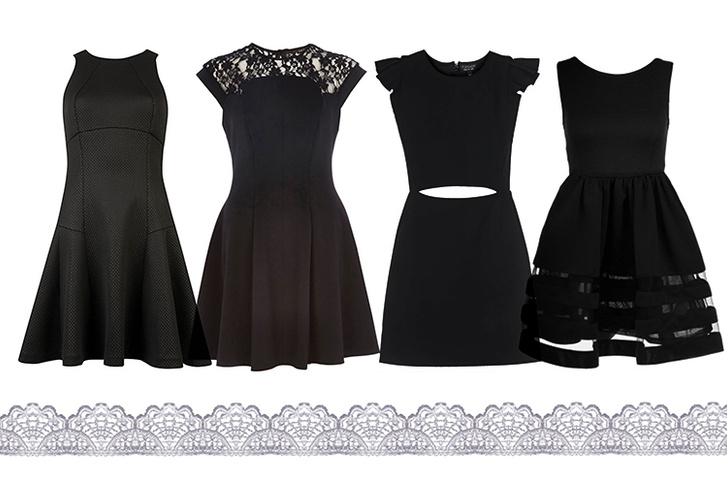 Платье, Ted Baker; платье, River Island; платье, Topshop; платье, Zalora, lamoda.ru, 2 690 руб.