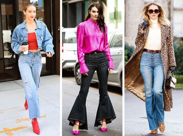 Фото №1 - От бедра: как выбрать правильные джинсы-клеш